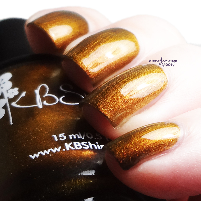 xoxoJen's swatch of KBShimmer It's A Blazing