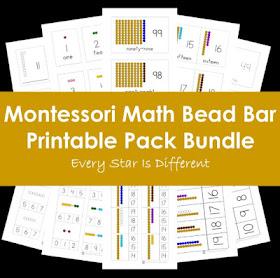 Montessori Math Bead Bar Printable Pack Bundle
