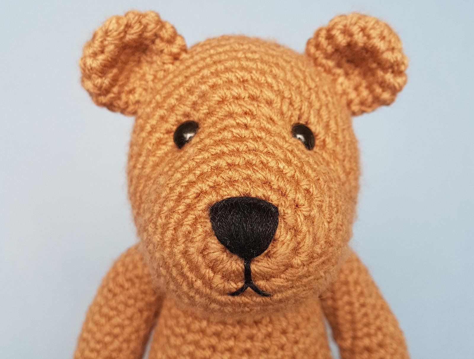 Crochet teddy bear purple bear Childs toy stuffed purple bear small ... | 1212x1600