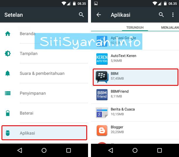 BBM Android error setelah update