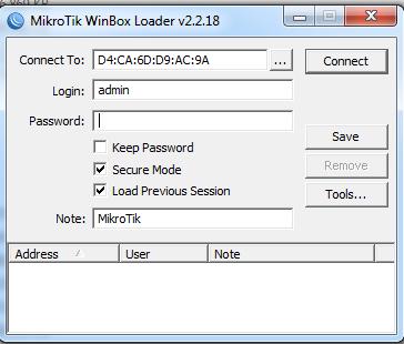 Login Mikrotik dengan Winbox