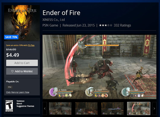 'Ender of Fire' and 'Dreamals' are now on Mid-Year sale in US
