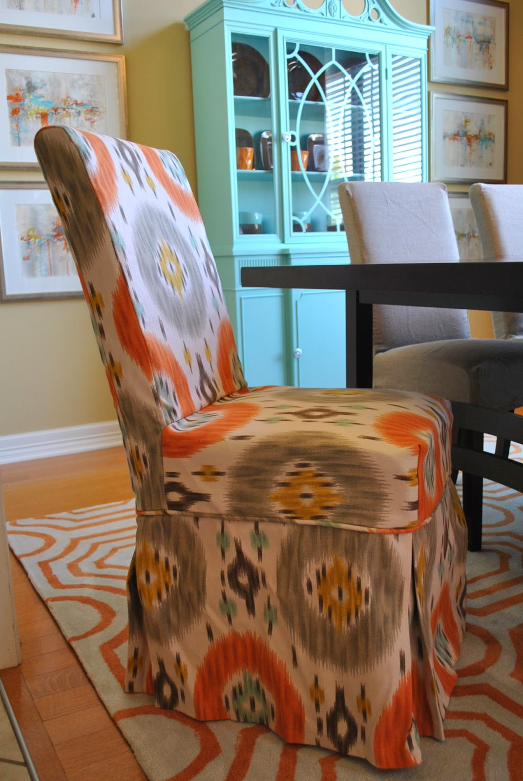 grey parson chair covers big cushy chairs the francis family orange blue and dining room makeover