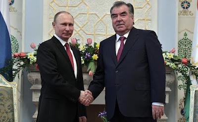 President Putin, Emomali Rahmon.