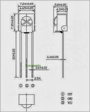Mắt thu Hồng ngoại 3 chân TSOP1838 (vỏ nhựa)