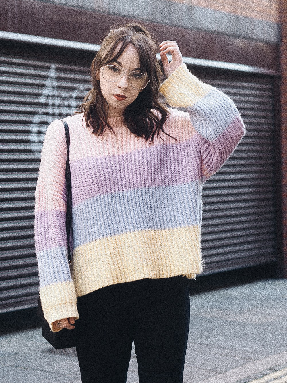 the multi coloured sweater i can't get enough of missguided personal style fashion 1