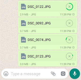 Sending full size photos on WhatsApp