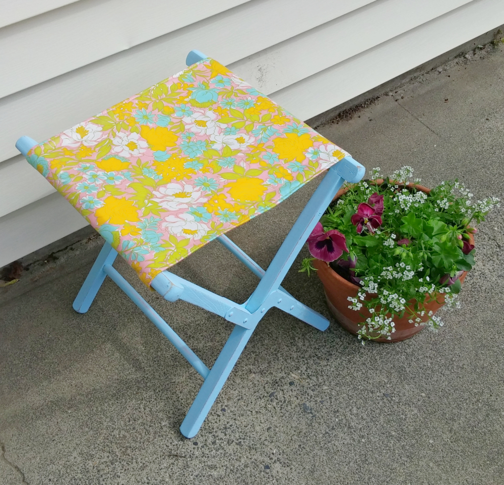 camping stool makeover