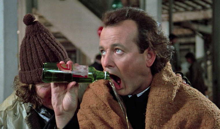 Bill Murray in SCROOGED (Richard Donner, 1988). Quelle: Screenshot Paramount DVD (skaliert)