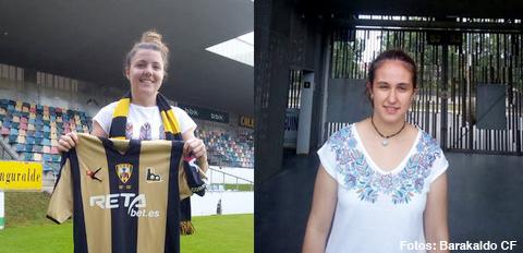 Futbol | El Barakaldo CF refuerza su equipo femenino con Maitane Landa e Irune Egiguren