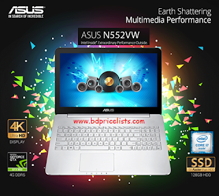 Asus VivoBook Pro N552VW Core i7 Laptop Price & Specifications In Bangladesh