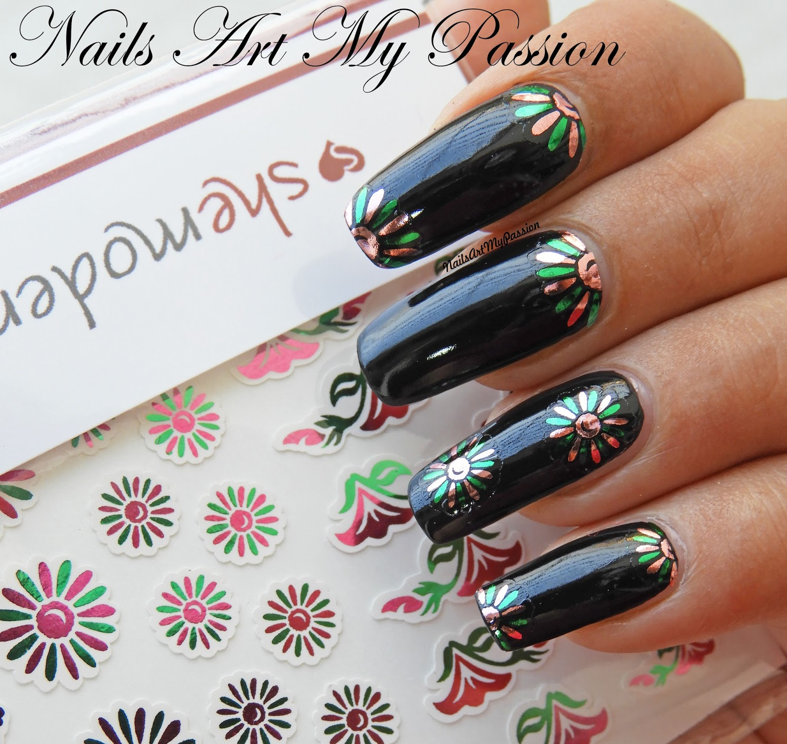 Nail Art My Passion: Floral Foil Nails DIY with pre-cut decals from ...