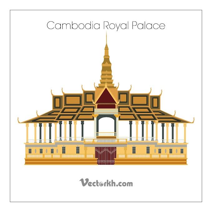 Cambodia Royal Palace Free Vector