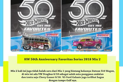 Hot Wheels 50th Anniversary Favorites Series 2018 Mix 2