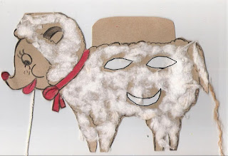 Páscoa máscara de cordeiro