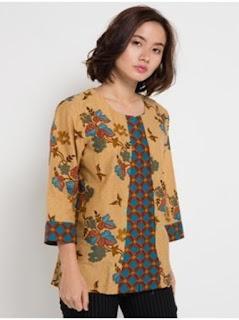 contoh baju batik kerja wanita