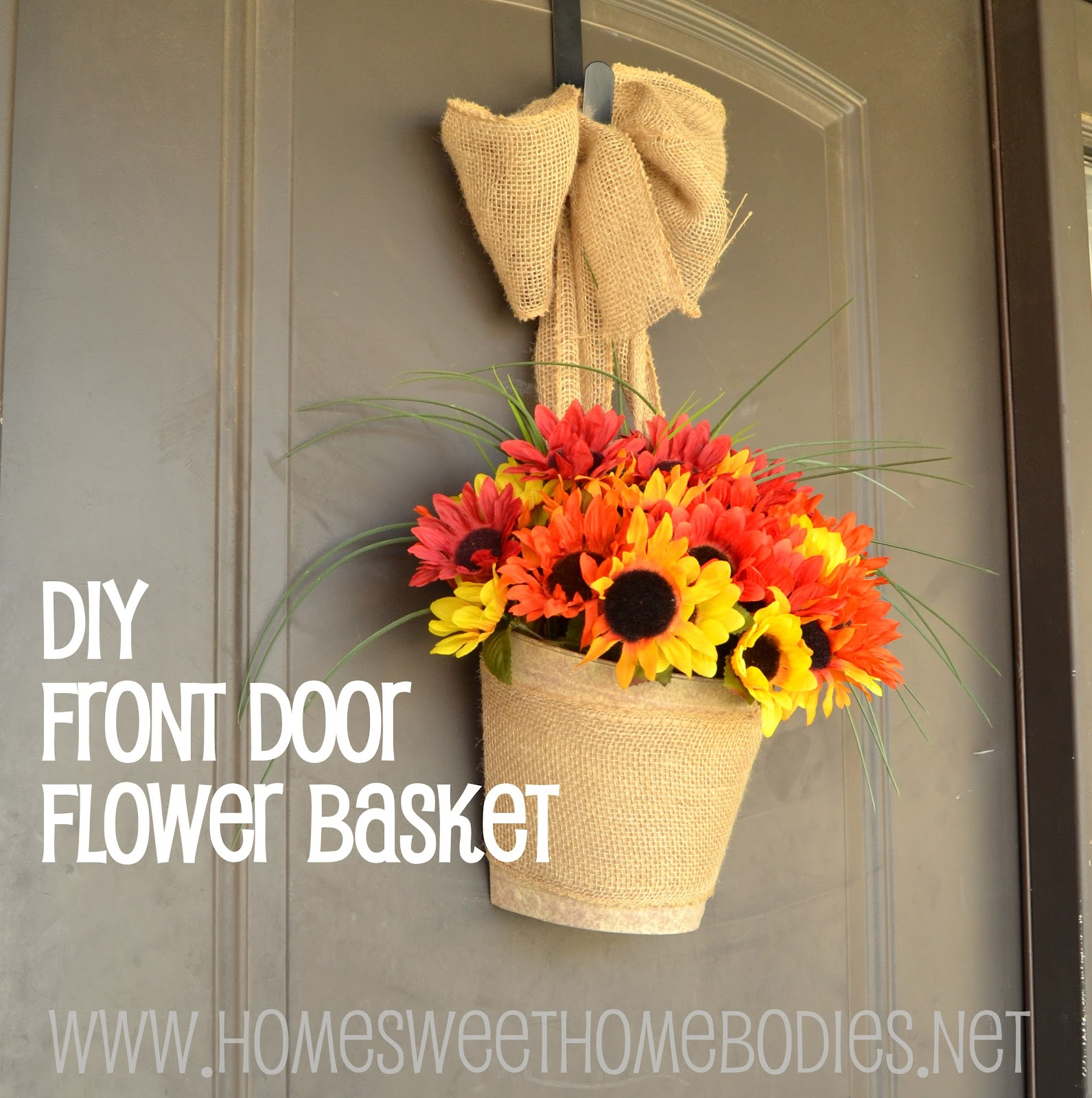 DIY Front Door Flower Basket