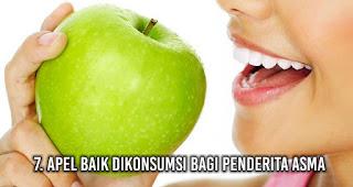 Apel baik dikonsumsi bagi penderita asma
