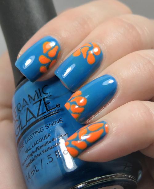 Nail Art The Digit Al Dozen Does Colour Contrasts Blue