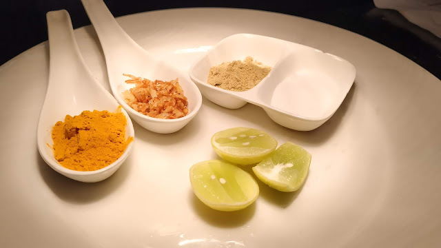Dinner ideas lemon turmeric powder salt, garlic for tangdi kebab