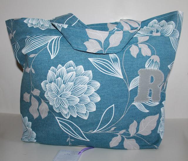 bolsa piscina flores azules