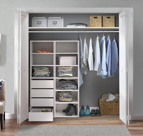 desain lemari pakaian untuk kamar sempit yang paling cocok