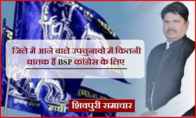 जिले में आने वाले उपचुनावो में कितनी घातक हैं बीएसपी कांग्रेस के लिए:पढिए पूरी रिर्पोट / Shivpuri News