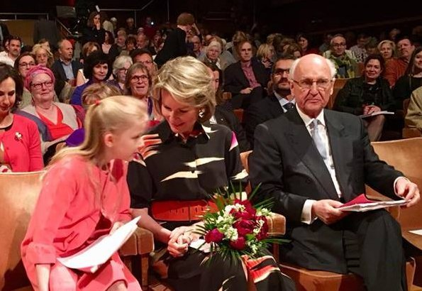 Queen Mathilde and Princess Eléonore attended the semi final of The Queen Elisabeth Chant 2018 contest held at Brussels Flagey. Mother's day gift