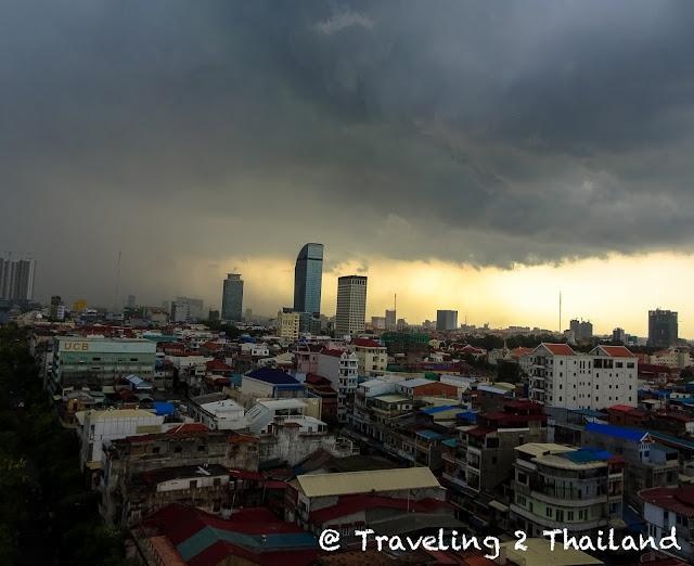 Skyline of Phnom Penh, Cambodia