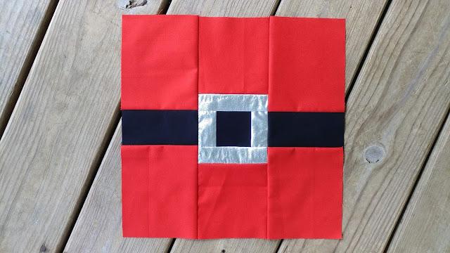 Santa's Belt quilt block tutorial for Christmas quilt along