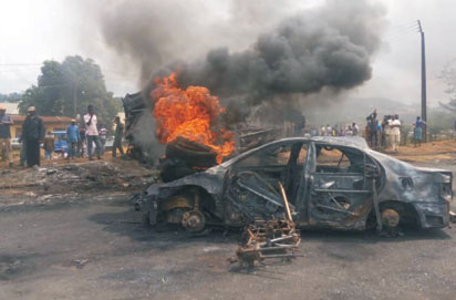 PHOTO: How Tanker Fire Killed Woman & Her 2 Kids On Their Way From Church