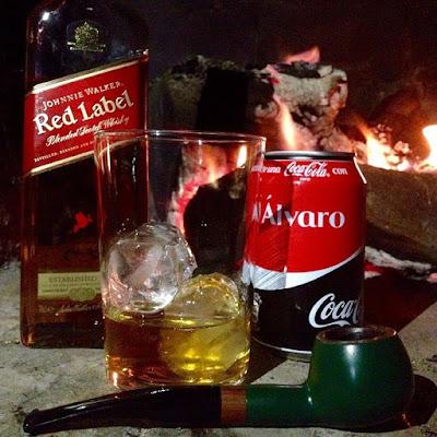Un Johnnie Walker es perfecto para una noche muy larga con barbacoa incluida y una pipa con Alsbo Black y Coca Cola - El troblogdita - el gastrónomo - ÁlvaroGP - Johnnie Walker Red Label