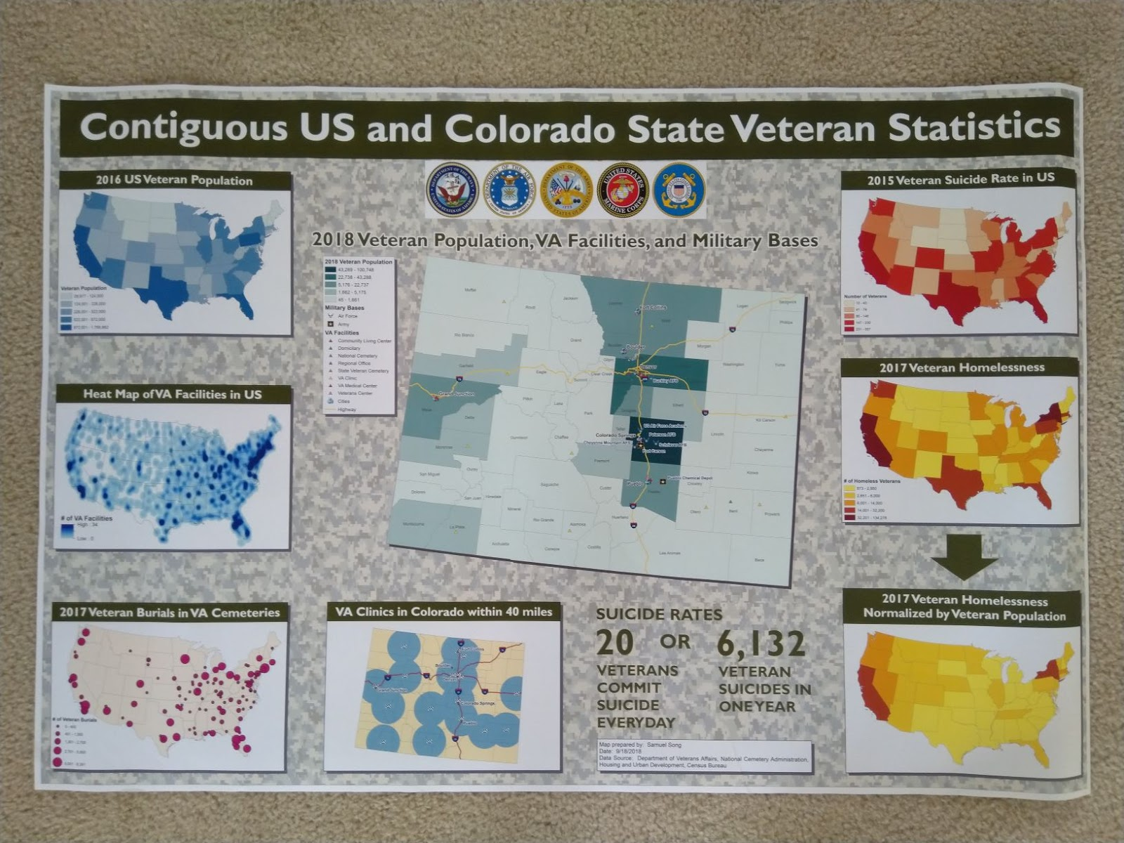 samuel song s map contiguous us and colorado state veteran statistics