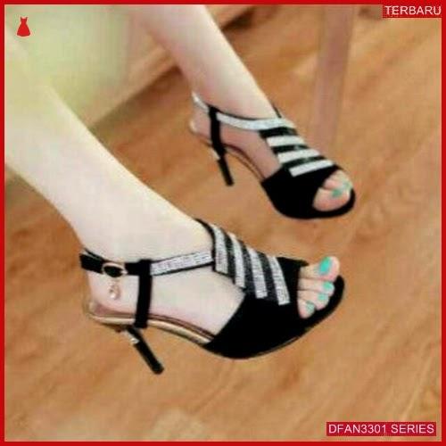 DFAN3301S30 Sepatu Ag01 High Hils Wanita Garis Permata BMGShop