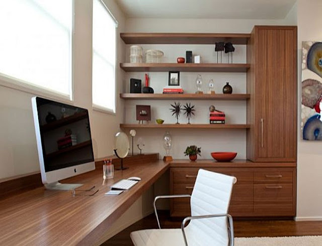 best custom home office compact computer desk sets with storage solutions