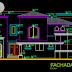 مخطط مشروع مسكن عائلي دوبلكس بتصميم جميل اوتوكاد dwg
