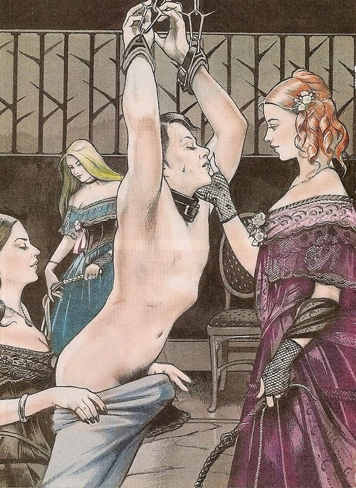 Forced Feminization Illustration Art  Victorian Style Feminization-4545