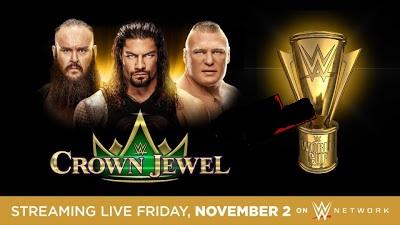 رض جوهرة التاج WWE Crown Jewel لعام 2018  القنوات الناقلة