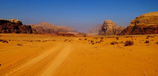 Vistas del desierto Wadi Rum