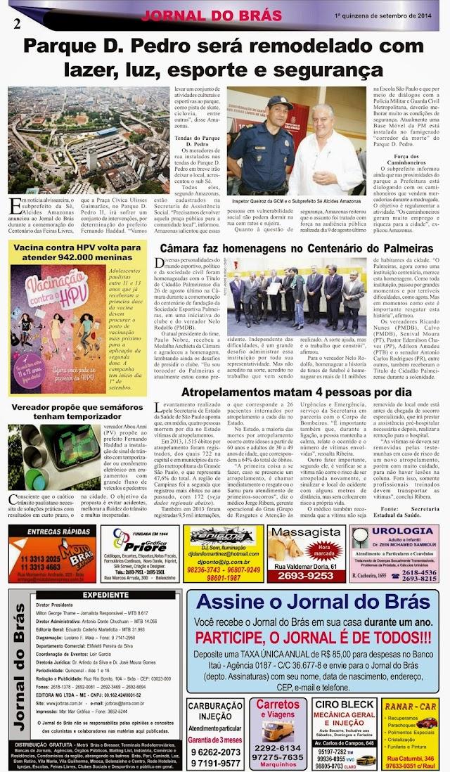 Destaques da Ed. 256 - Jornal do Brás