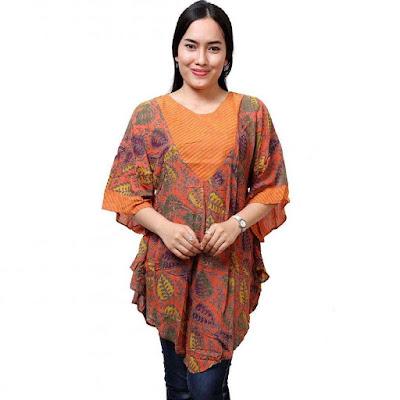 Model Baju Batik Wanita Gemuk2