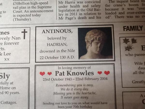 ANTINOUS THE GAY GOD: SOME MODERN ANTINOUS WORSHIPERS