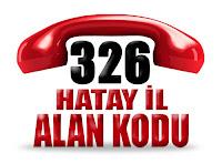 0326 Hatay telefon alan kodu