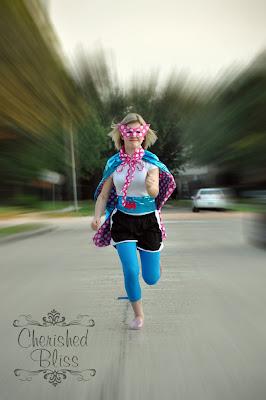 Polka Dot Superhero Cape via CherishedBliss.com
