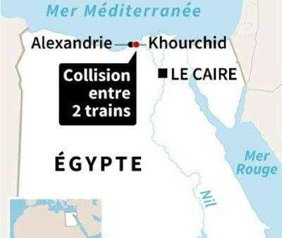 Collision de trains en Egypte: au moins 18 morts, selon la TV d'Etat dans - INTERNATIONAL a2