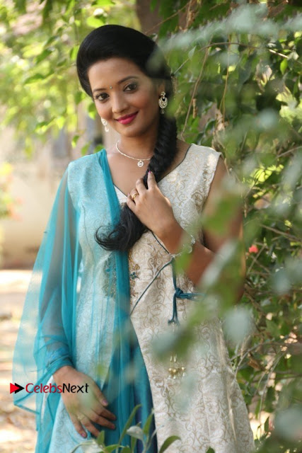Tamil Actress Koushika Stills in White Salwar Kameez at Inayathalam Tamil Movie Audio Launch  0002.jpg