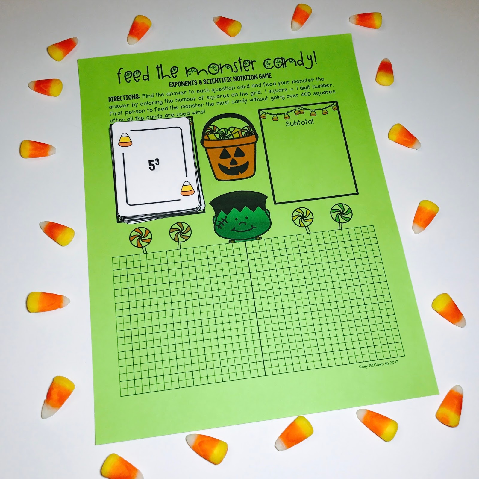 Kelly McCown: Halloween Middle School Math Activities & Games