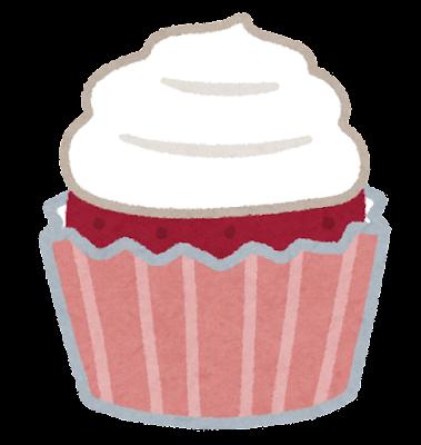 レッドベルベットケーキのイラスト
