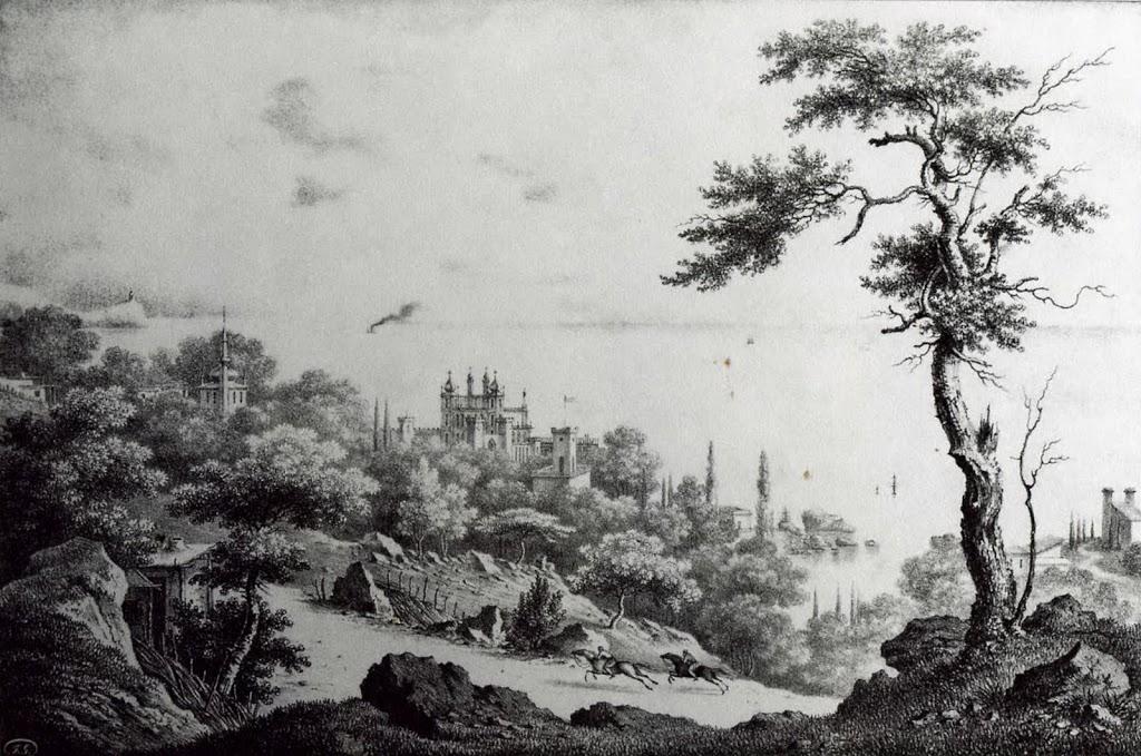Картина Федора Гросса. Воронцовский дворец в Алупке