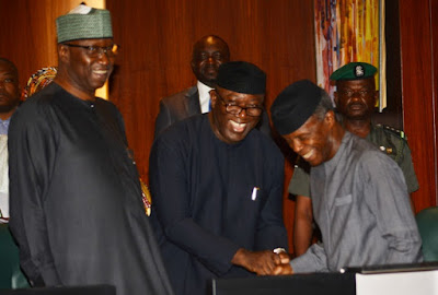 Dr Kayode Fayemi attends NEC